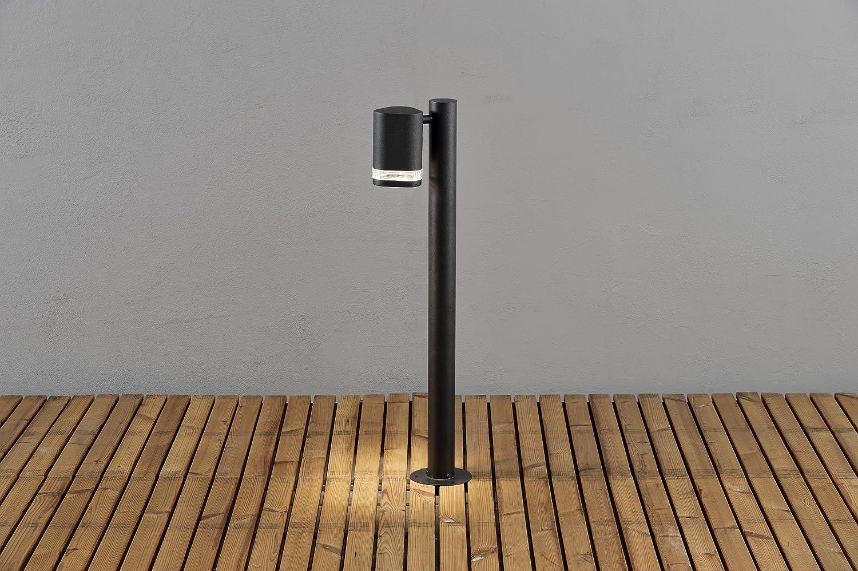 Gnosj/ö Konstsmide Modena Wegeleuchte Au/ßenleuchte Aluminium GU10 schwarz 11.5 x 19 x 70 cm