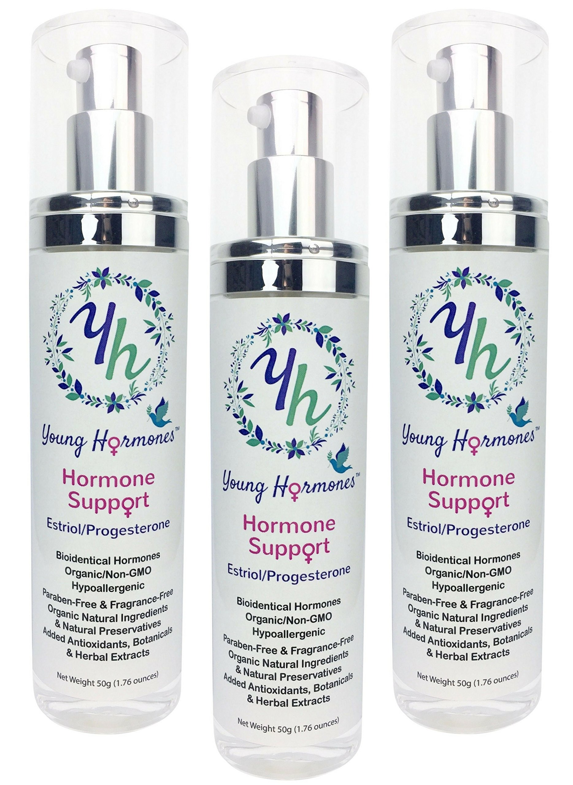 Hormone Support (3-Pack) - Bioidentical Estriol and Progesterone in an Organic Cream