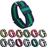 Gemony Nato Strap Premium Ballistic Nylon Watch Band 23 colori disponibili per Diver Orologi, Larghezza di banda 18/20 millimetri
