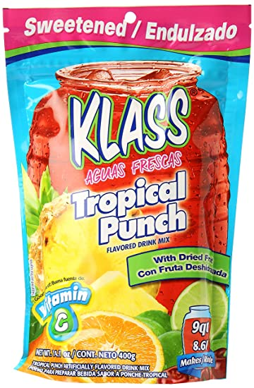 Klass Tropical Punch Flavored Drink Mix with Dried Fruit