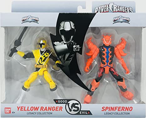 Bandai Power Rangers Legacy Collection (Yellow & SPINFERNO)