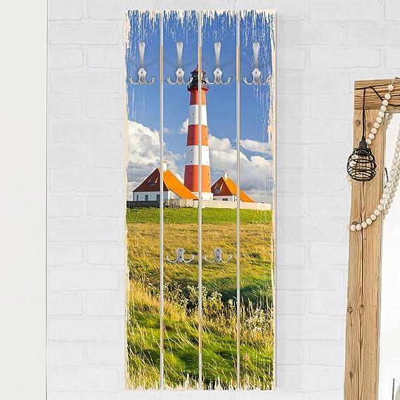 Bilderwelten Perchero de Madera - Lighthouse In Schleswig ...