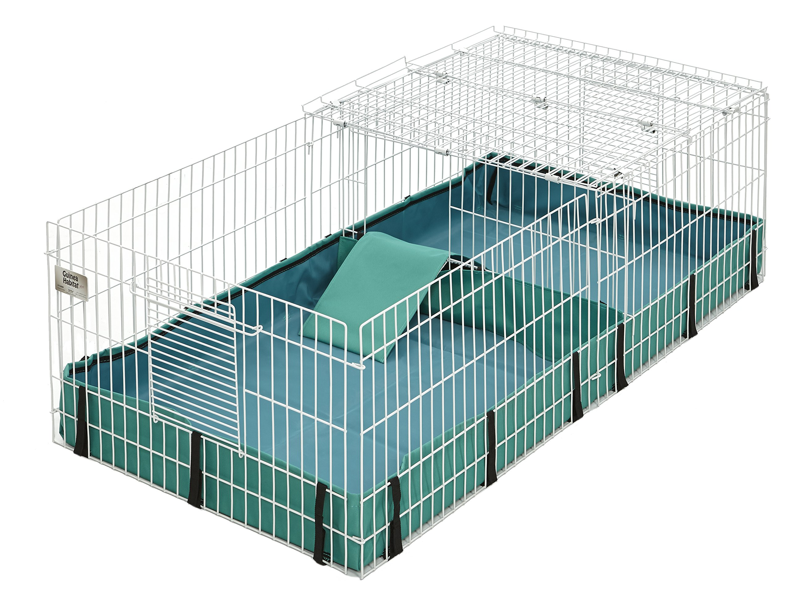 Guinea Habitat Plus Guinea Pig Cage by MidWest w/ Top Panel, 47L x 24W x 14H Inches by MidWest Homes for Pets