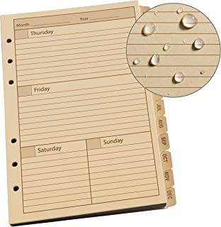 "product image for Rite In The Rain Weatherproof Weekly Calendar Set, 5"" x 7"", Tan Sheets, 65 Weeks (No. 9260W)"