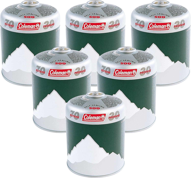 Coleman Cartucho de Gas Valor Extra 6 x C500 – Verde, Pack de 6