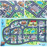 "New York City Kids Play Mats for Toddlers. Educational, Road & Car Map Rug. Large 75"" x 45"" Floor Playmat for Children…"