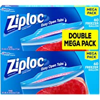 Deals on 120-Count Ziploc Freezer Bags Gallon
