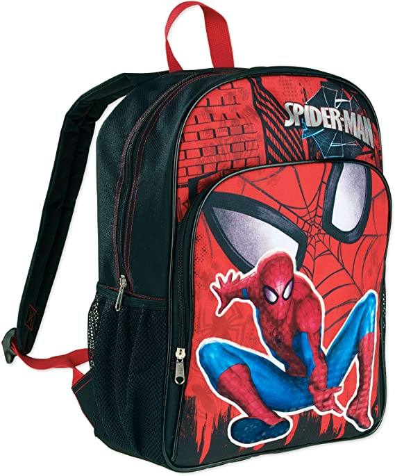 Spider-Man Far From Home Zip Backpack Boys Girls Student Schoolbag Travel Bag