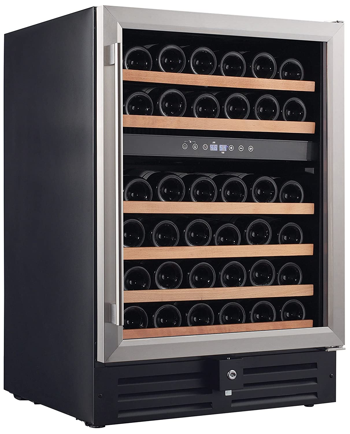 Smith & Hanks RW145DR 46 Bottle Dual Zone Under Counter Wine Refrigerator, 24 Inch Width, Built-In or Free Standing