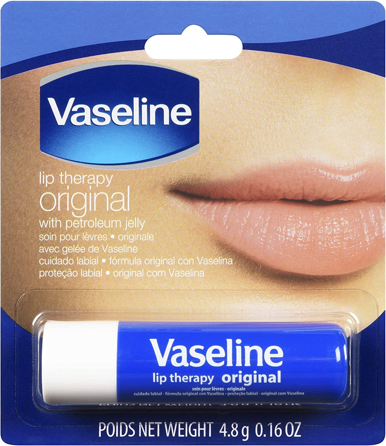 Vaseline Lip Therapy Original | Lip Balm with Petroleum Jelly for Providing Your Lips with Ultimate Hydration and Essential Moisture to Treat Chapped, Dry, Peeling, or Cracked Lips; 0.16 Oz (3 Pack)