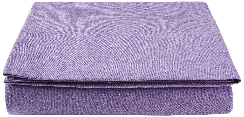 Pinzon by Amazon Jersey - Sábana encimera (tejido jersey jaspeado, 240 x 320 + 10 cm), color violeta: Amazon.es: Hogar