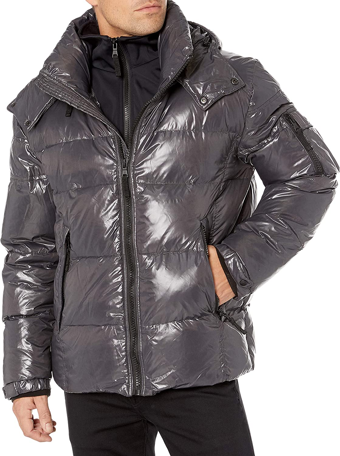S13 Mens Downhill Quilted Down Puffer Coat