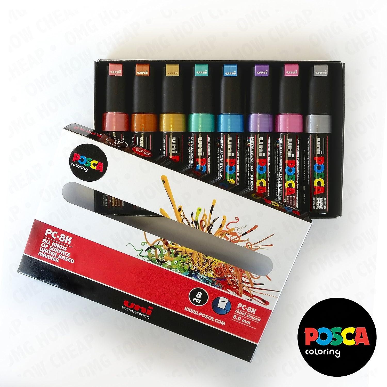 POSCA PC-8K Art Marker PC-8K Metallic Set of 8 In Gift Box