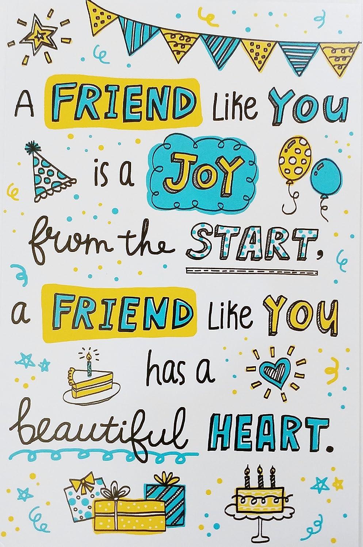 Happy Birthday Card For Friend.A Friend Like You Happy Birthday Greeting Card