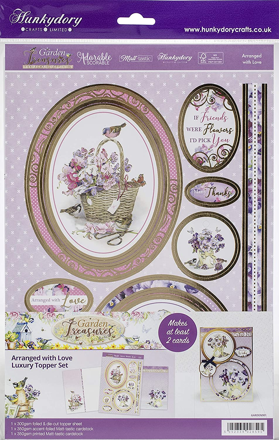Hunkydory Garden Treasures Luxury A4 Topper Set-Plant A Little Happiness