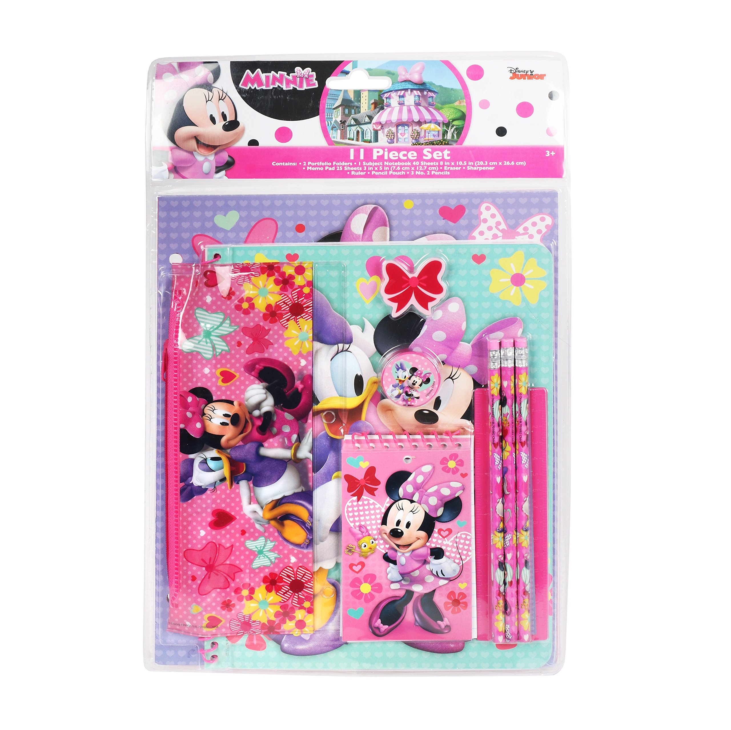 Disney Minnie Mouse 11 Piece Set Back to School for Girls