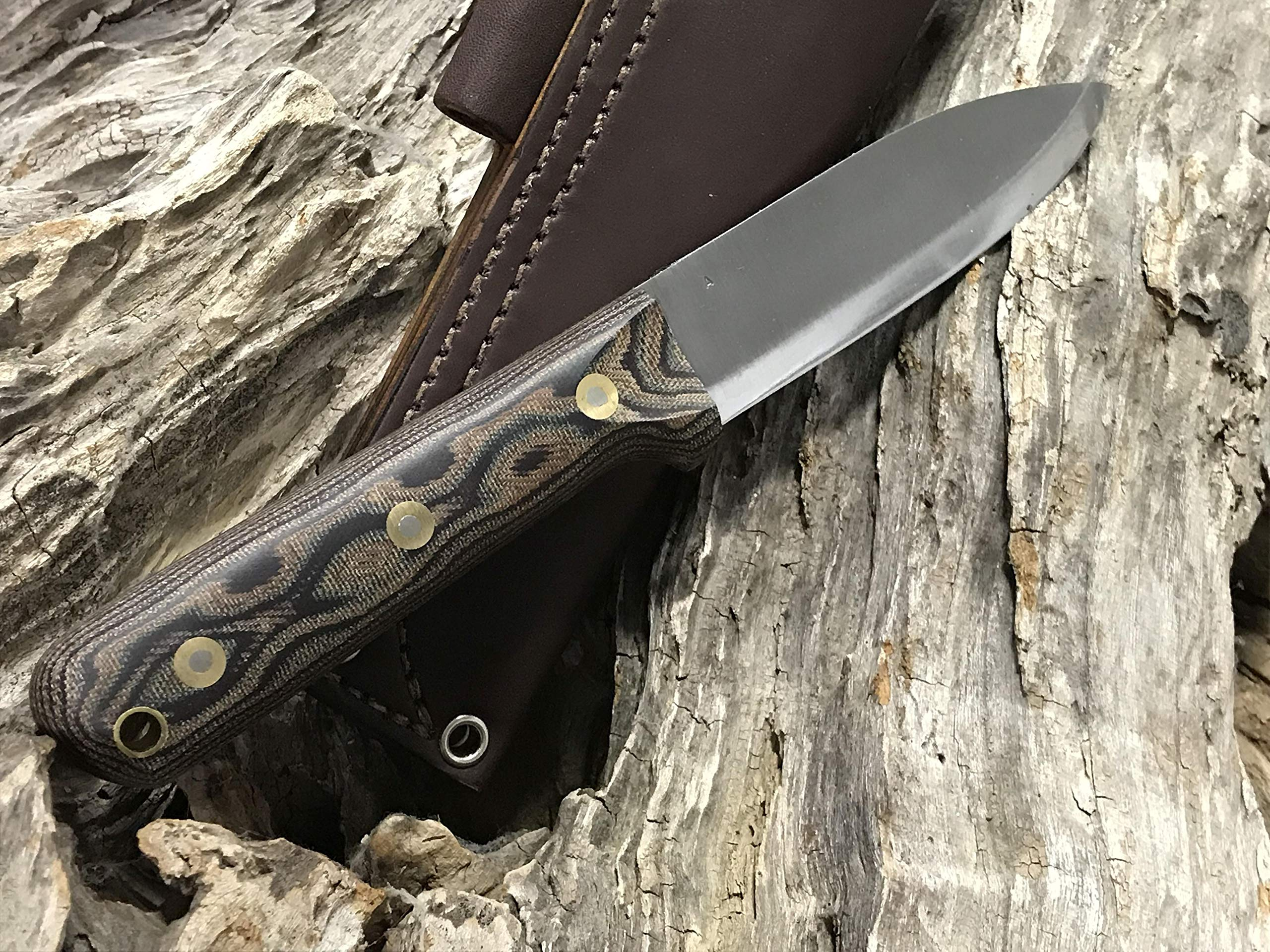 L.T. Wright Handcrafted Knives Genesis w/Scandi Grind, A2 Steel (Python) by L.T. Wright Handcrafted Knives (Image #5)