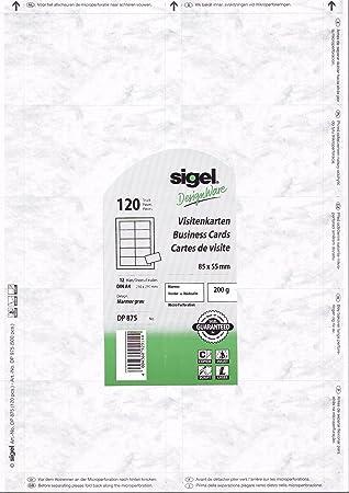 Sigel Print Sie Ihre Eigenen Visitenkarten Dp875 Grau
