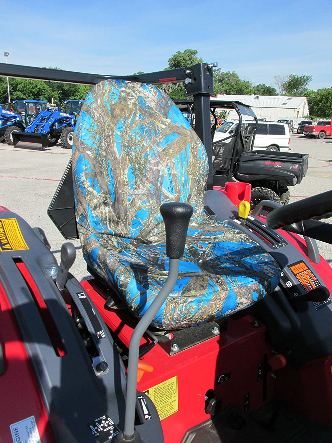 Durafit Seat Covers KU20 Blue Mahindra Seat Covers for tractor 1526 4WD HST AND SHUTTLE ONLY