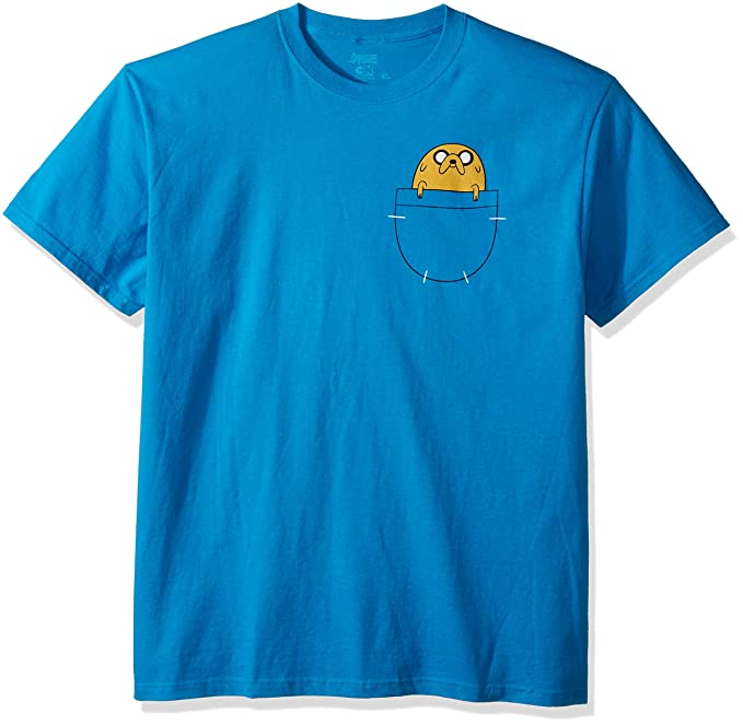 Amazon Com Adventure Time Jake In Pocket T Shirt Size M Clothing