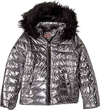 f23c3c356 Amazon.com  Urban Republic Kids Womens Lana Metallic Foil Puffer ...