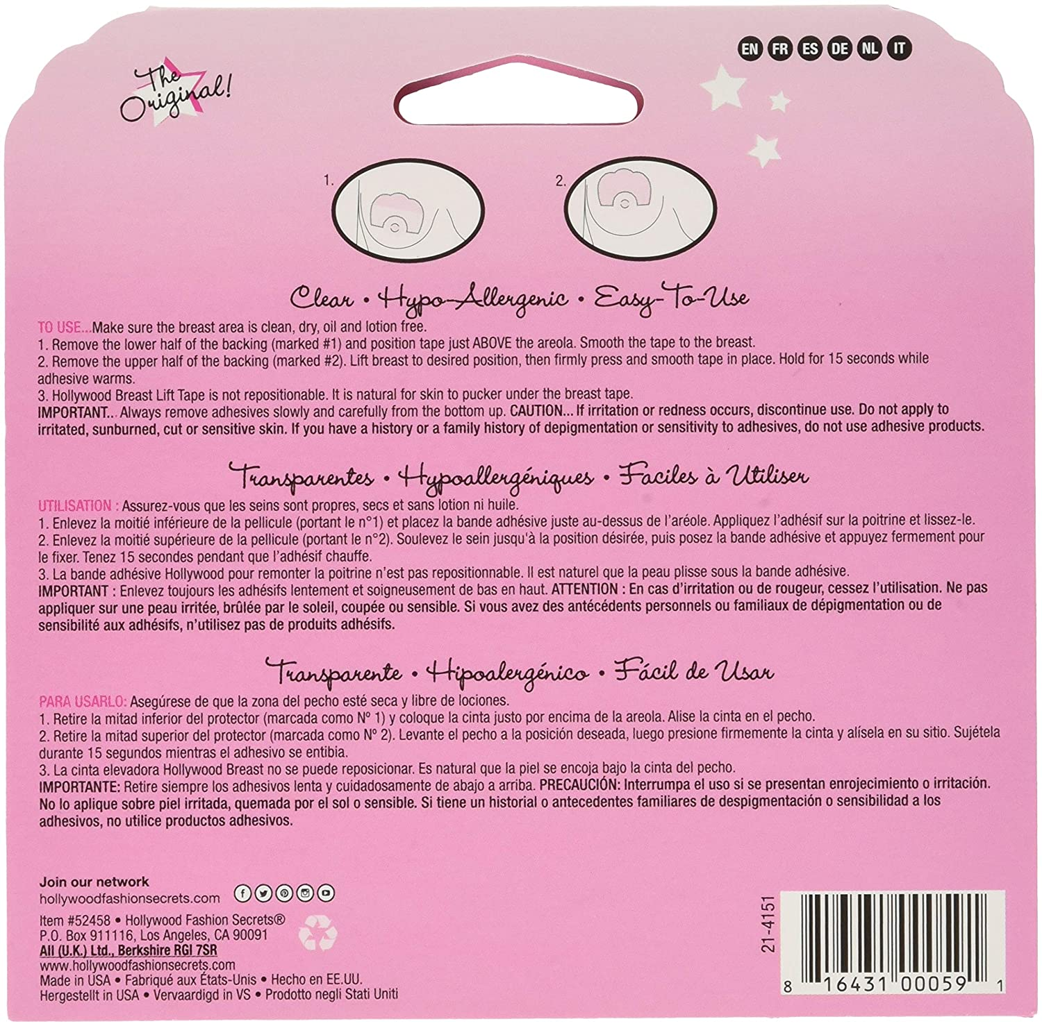 Amazon.com: Hollywood Fashion Secrets Breast Lift Tape: Beauty