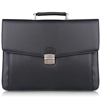 Image Unavailable. Image not available for. Color  S-ZONE Mens Microfiber  Leather Flapover Briefcase Messenger Bag fit 14 inch Laptop Bag 04513d7050