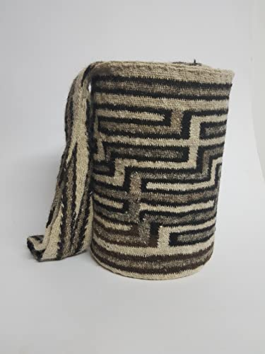 Amazon.com: Real Native Colombian Arhuaco handbag - Colombian mochila - Handmade and woven from sheep wool by women ARSEY 0051: Handmade