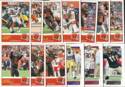 9d5524a58 2019 Panini Score Football Cleveland Browns Team Set 13 Cards W ...