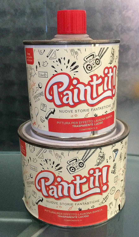 Paint it pittura effetto lavagna   trasparente lucido 500ml ...