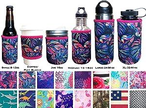 Koverz XL Neoprene 32-40 oz Water Bottle Insulator Cooler Coolie - XL Tropics