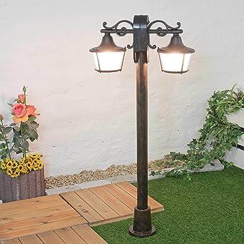 Resistente a la intemperie jardín lámpara Camino Camino Lámpara de 2 x E27 Max. 11 W Altura 1,22 m pie Jardín Lámpara Camino Iluminación Jardín Iluminación: Amazon.es: Iluminación
