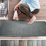 iCustomRug Ergonomic Anti Fatigue Mat, for Comfortable Standing in Kitchen, Bathroom, Workstation Memory Foam Mat in Smoke 39