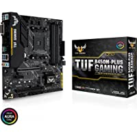 Asus TUF B450M-PLUS Gaming Motherboard Micro ATX, AMD Ryzen 2 AM4, HDMI, DVI-D