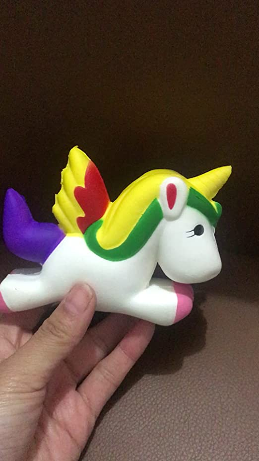 Anboor 4.5 Slow Rising Squishies Jumbo Pegasus Kawaii Scented Soft Squishies Unicorn Animal Toy 1 Pcs Color Random