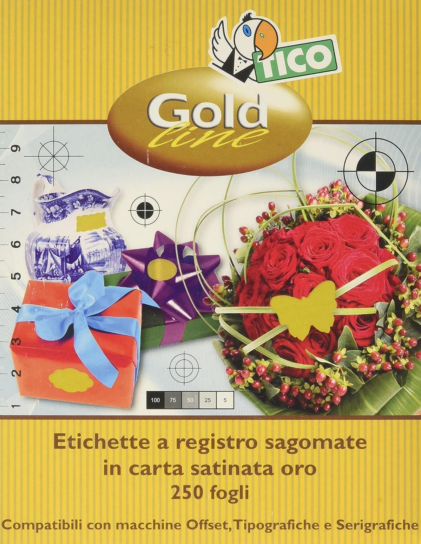 Tico gl-3620/ 36/x 20/mm /Etichette ovali colore: oro