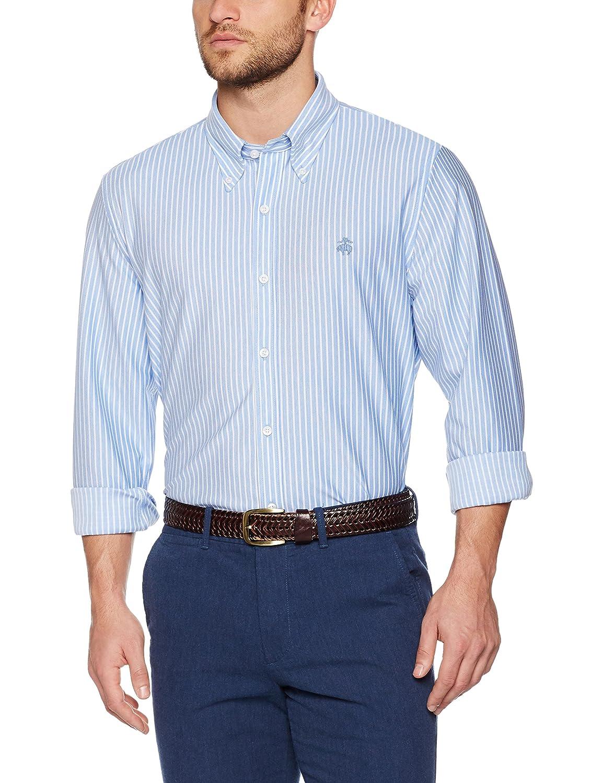 Brooks Brothers Herren Sporthemd Knt Ground Stripe