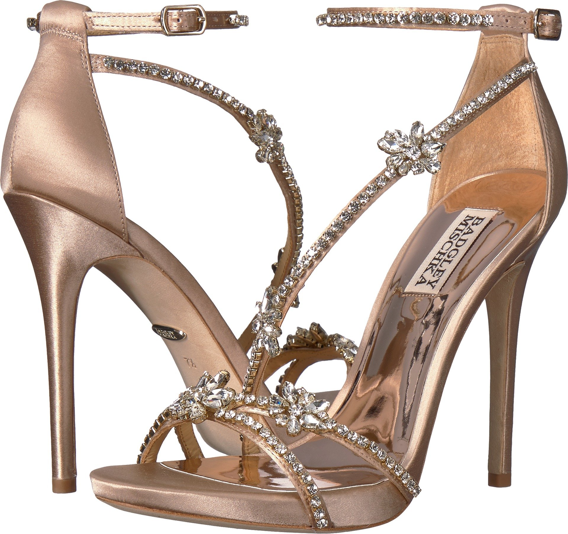 Badgley Mischka Women's Hodge Heeled Sandal, Latte, 7.5 M US