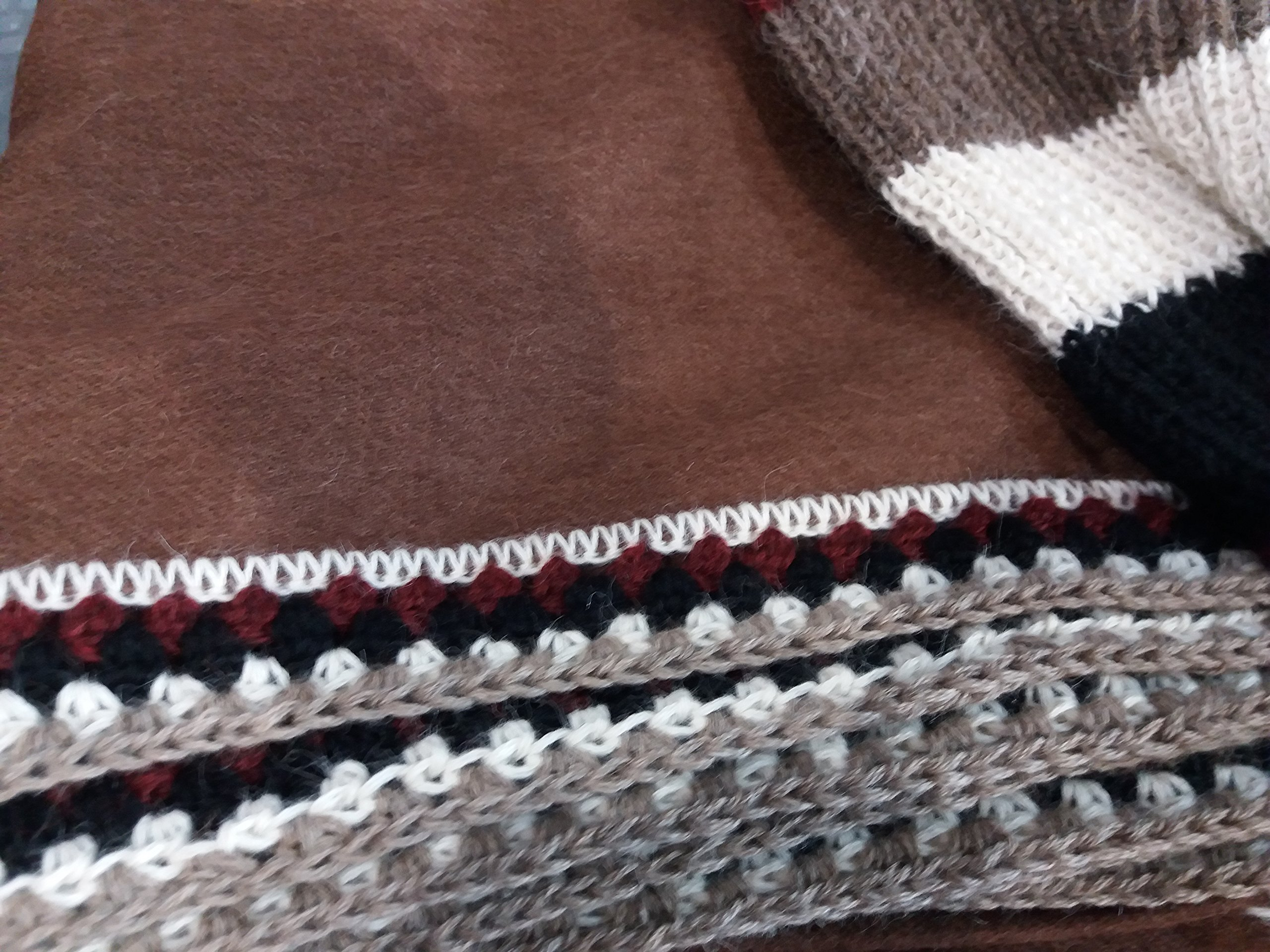Hypoallergenic 100% Royal Alpaca Poncho Turtleneck Wrap Shawl, Brown by Sweet Dreams Home (Image #3)