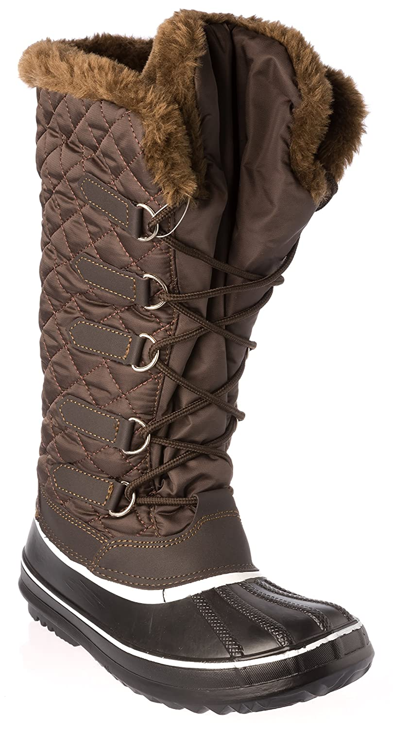 Anna Almeida frozen02Black Womans Winter Lace-Up Boots Warm Fleece Lining Cold Weather Shoes
