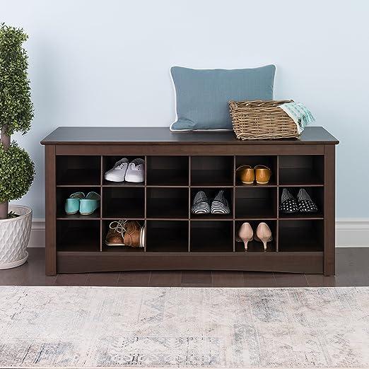 Amazon.com: Banco cubo para almacenamiento de zapatos Prepac ...