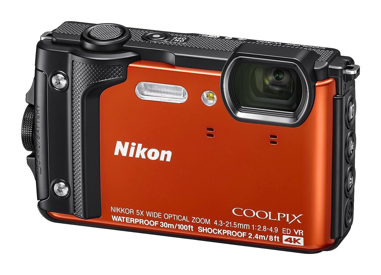 Nikon W300 Waterproof Underwater Digital Camera With Byo Concert Aperture Small In Sand Tft Lcd 3 Orange Photo