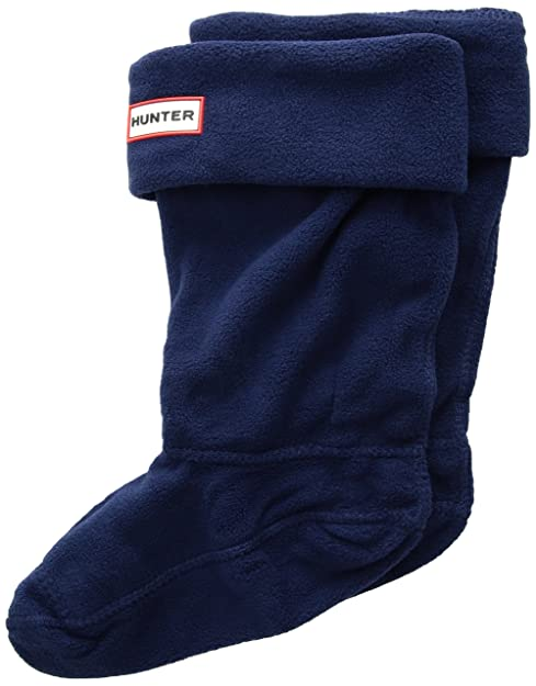 Hunter Bambino Marino Fleece Welly calcetines-x-large: Amazon.es: Ropa y accesorios