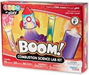 hand2mind BOOM! Combustion Chemistry Science Lab Kit For Kids (Ages 8+), Build 25 STEM Experiments & Activities Set, Make Roc
