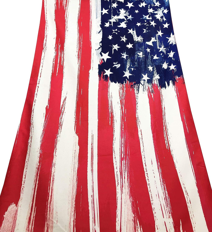 tex family - Toalla de Playa de Rizo con Bandera Americana de tamaño Grande 90 x 170 cm.: Amazon.es: Hogar