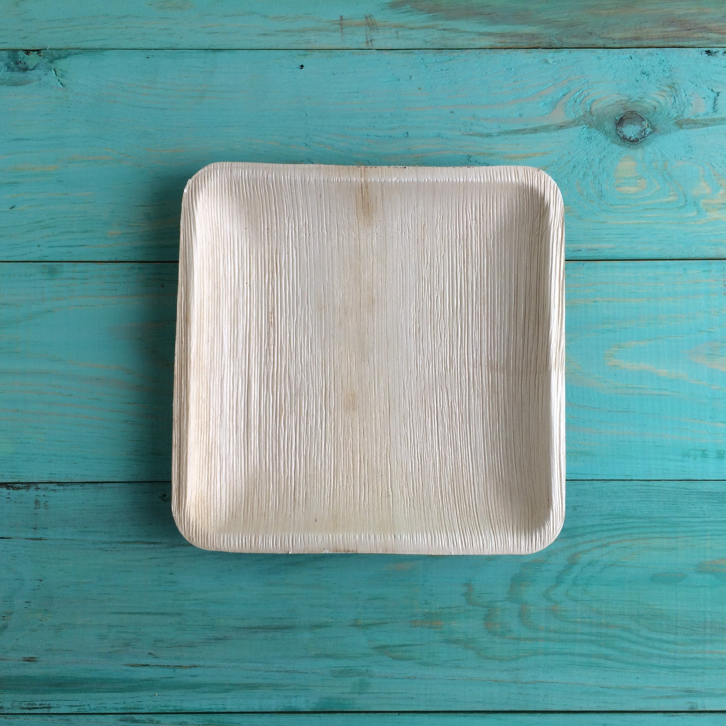 Disposable Plates Made of Palm Leaf: Heavy Duty & Eco - Better Than Wood & Bamboo- Square Shape (6'' Square Plate - 25 Pcs, Peach to tan) by Adaaya (Image #5)