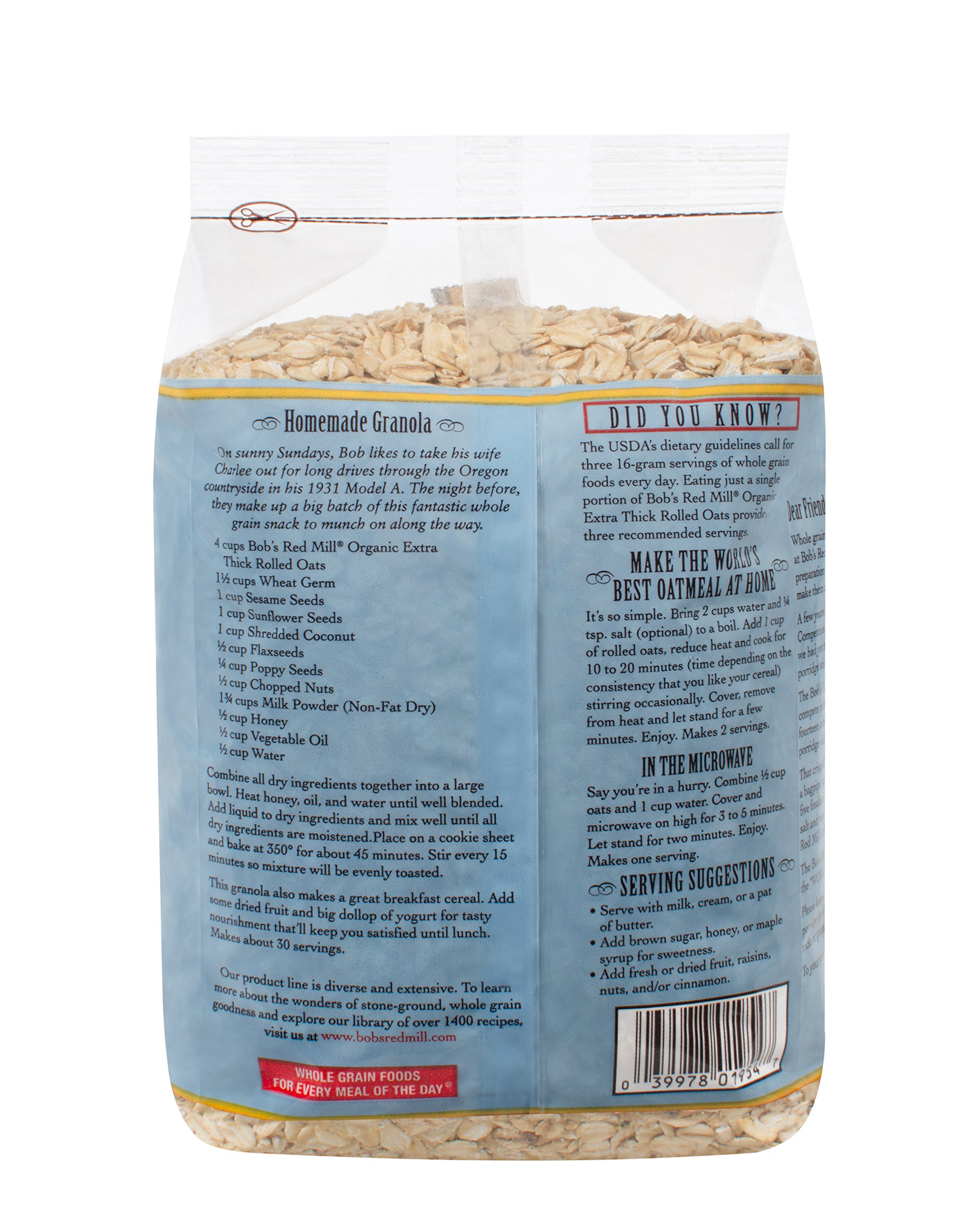 Bob's Red Mill - Organic Oats Rolled Thick, 32 Ounces by Bob's Red Mill (Image #2)