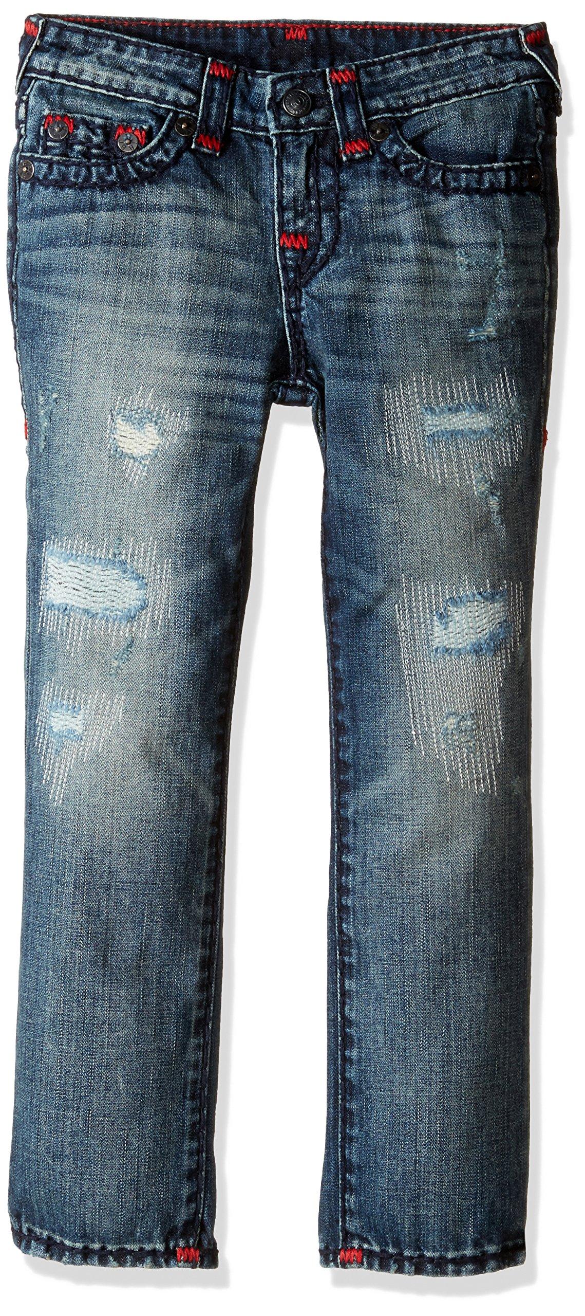 True Religion Boys' Geno Super T Jeans, Tarnished Wash, 8