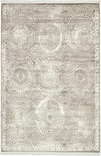 Unique Loom New Classical Collection Traditional Distressed Vintage Classic Gray Area Rug 4 0 x 6 0