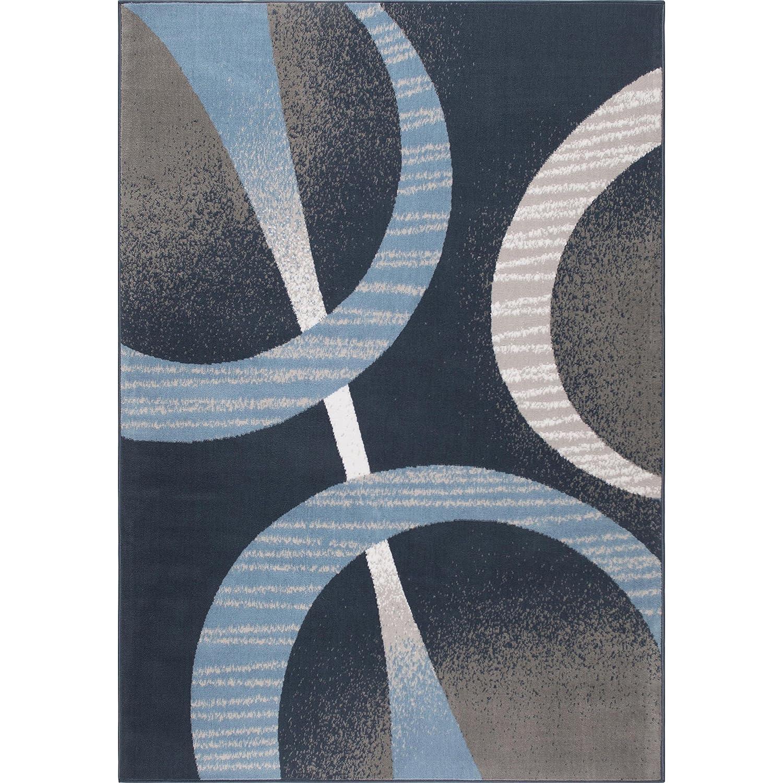 Modern Abstract Midnight Blue//Blue Home Dynamix Lyndhurst Melia Runner Area Rug 19 x72